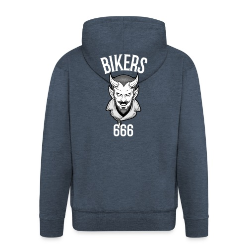 bikers 666 - Veste à capuche Premium Homme