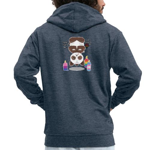 Panda Love - Herre premium hættejakke
