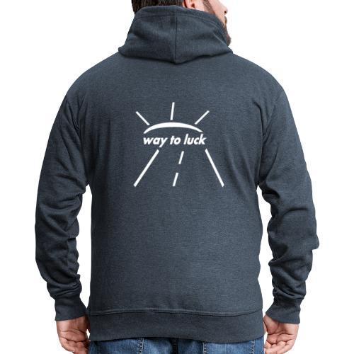 way to luck logo weiß - Männer Premium Kapuzenjacke