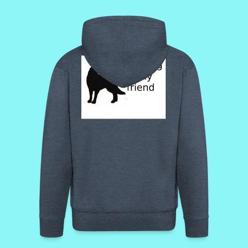 T-Shirt damski My dog is my friend - Rozpinana bluza męska z kapturem Premium