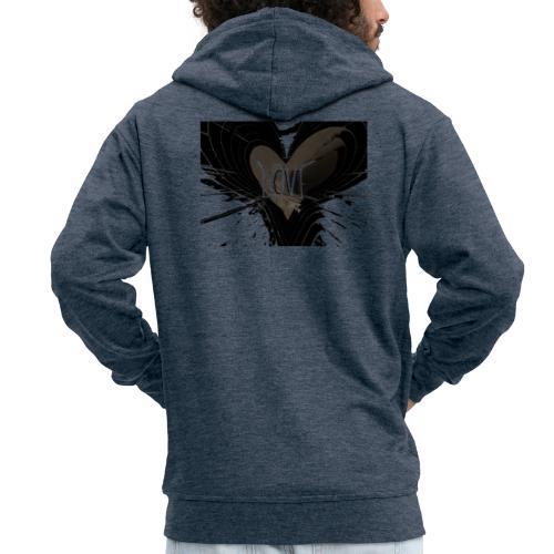 explosion d amour - Veste à capuche Premium Homme