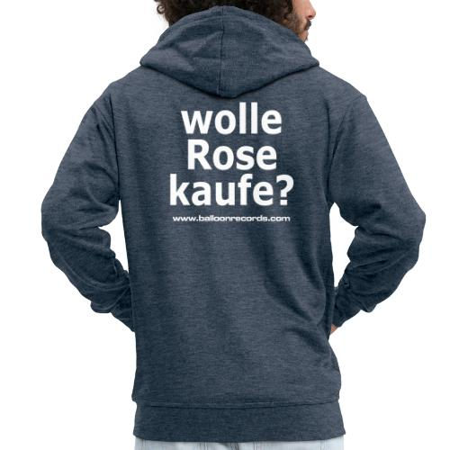 Wolle Rose Kaufe (weisse Schrift) - Männer Premium Kapuzenjacke