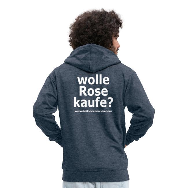 Wolle Rose Kaufe (weisse Schrift)