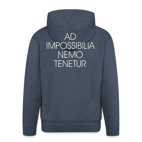 Ad Impossibilia Nemo Tenetur t-shirt avvocato - Men's Premium Hooded Jacket