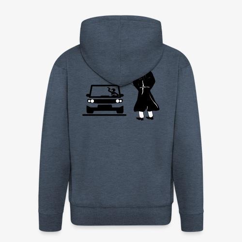 Pissing Man against drunk driving - Männer Premium Kapuzenjacke