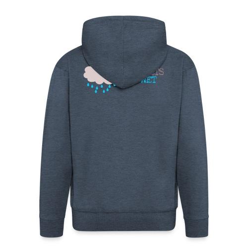 rain_gets_me_wet - Men's Premium Hooded Jacket