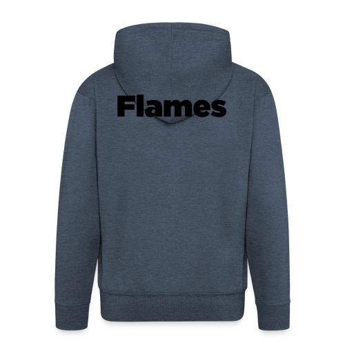 Plump Flames Logo - Men's Premium Hooded Jacket