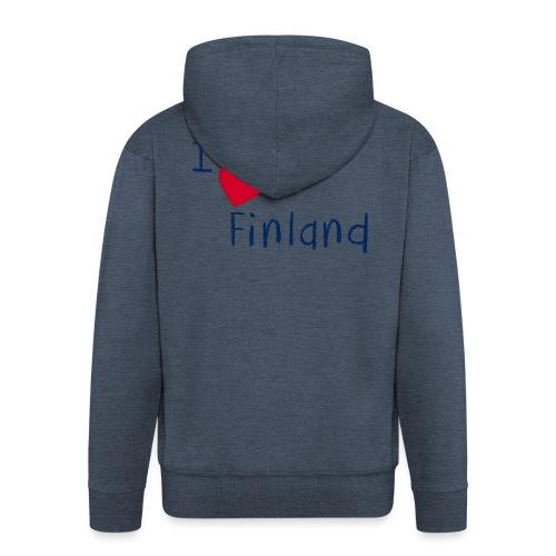 I Love Finland - Miesten premium vetoketjullinen huppari