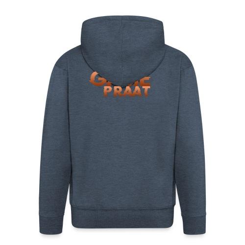GamePraat Logo Oranje - Mannenjack Premium met capuchon