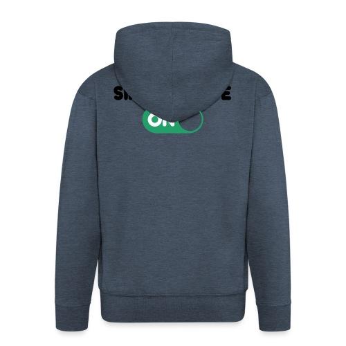 single mode ON - Felpa con zip Premium da uomo