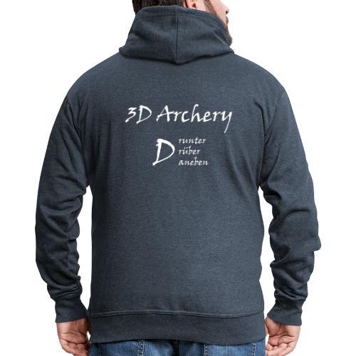 3D Archery white - Männer Premium Kapuzenjacke