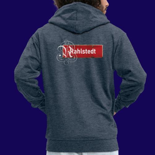 (Hamburg-) Rahlstedt Ortsschild + pompöses Initial - Männer Premium Kapuzenjacke