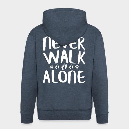 Never Walk Alone Hund - Männer Premium Kapuzenjacke