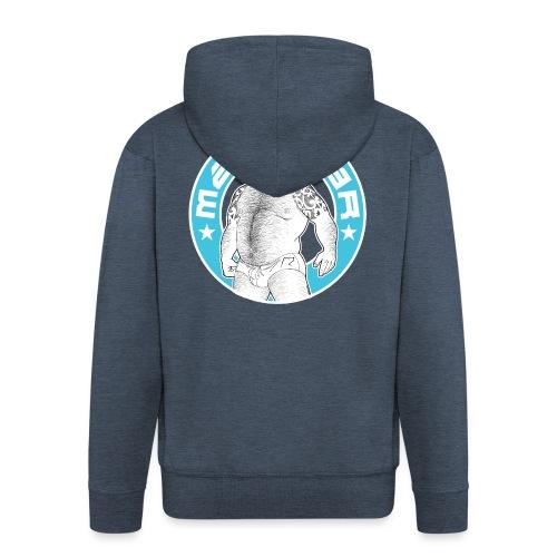 Mad.bear T-shirt blue - Chaqueta con capucha premium hombre