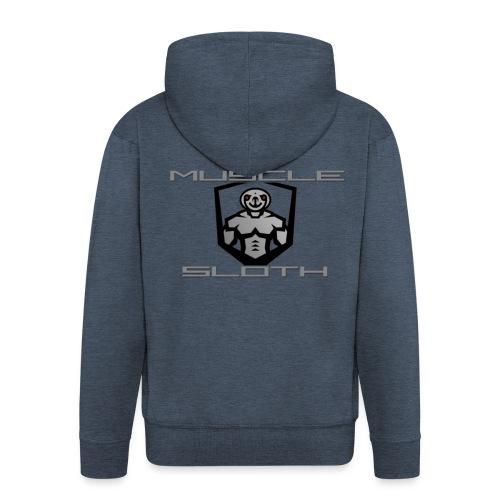 Muscle Sloth - Men's Premium Hooded Jacket