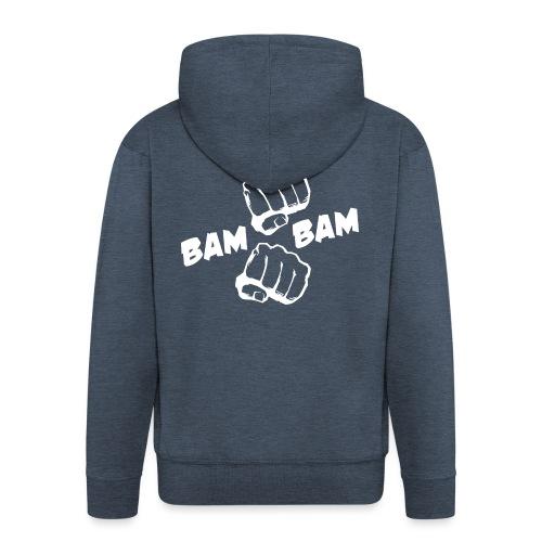 bambam_logo__white - Men's Premium Hooded Jacket