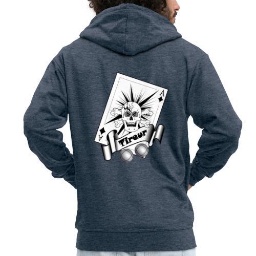 t shirt petanque tireur crane carreau boules - Veste à capuche Premium Homme
