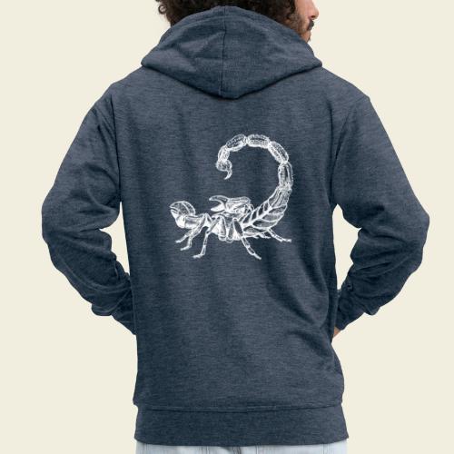 Skorpion weiß - Männer Premium Kapuzenjacke