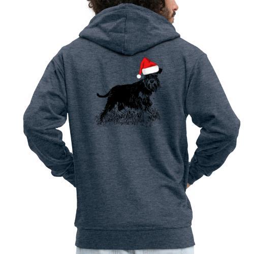 Weihnachten Zwergschnauzer Hund Schnauzer Geschenk - Männer Premium Kapuzenjacke