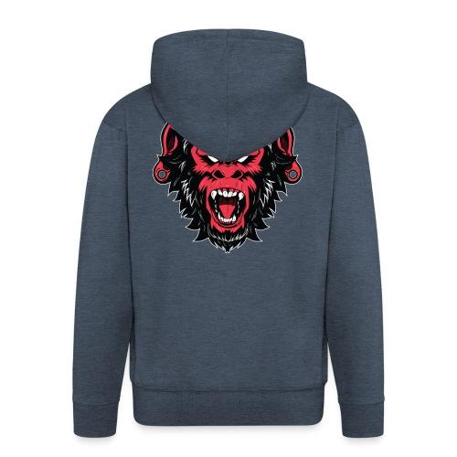 logo bearded monkeys - Veste à capuche Premium Homme