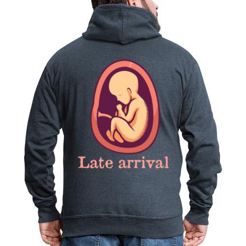 Schwanger - Late arrival - Männer Premium Kapuzenjacke