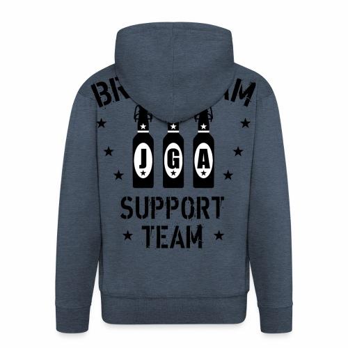 03 JGA Bierflaschen Bräutigam Support Team - Männer Premium Kapuzenjacke