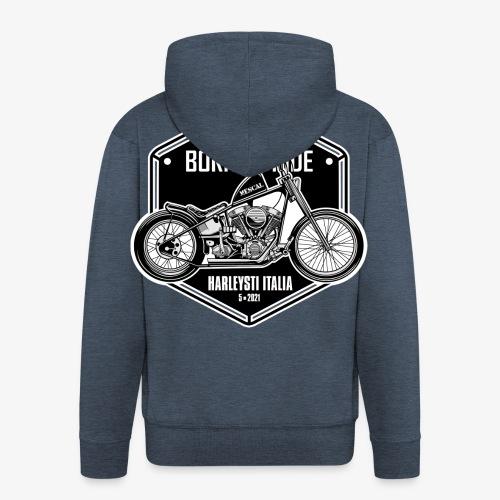 Born to Ride - Vintage motorbike - Felpa con zip Premium da uomo