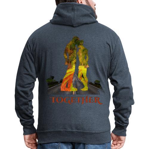 Together -by- T-shirt chic et choc - Veste à capuche Premium Homme