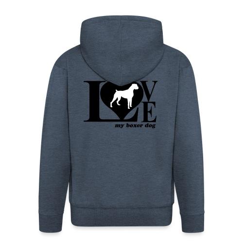 Amor de bóxer - Chaqueta con capucha premium hombre