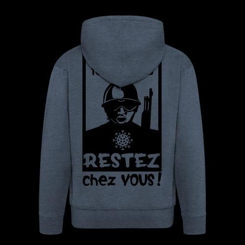 Couvre-feu - La Police Veille.. (Motif N°3) - Veste à capuche Premium Homme