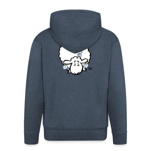 Joulukuusi lammas - Miesten premium vetoketjullinen huppari