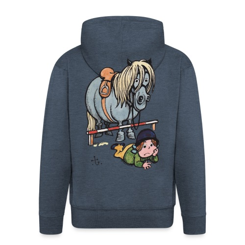 Thelwell Funny Showjumping Gone Wrong - Men's Premium Hooded Jacket
