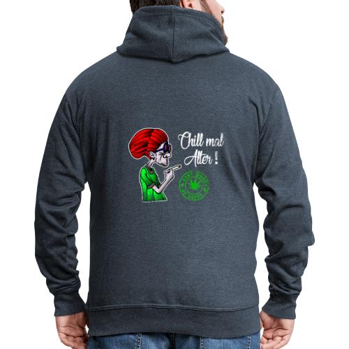 Chill old age, smoke weed everyday, vintage - Men's Premium Hooded Jacket