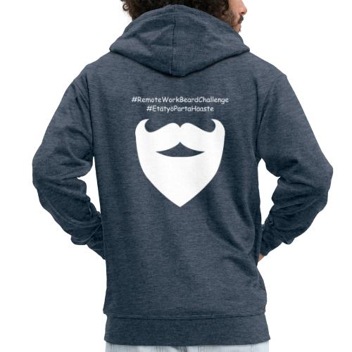 Remote Work Beard Challenge - Men's Premium Hooded Jacket
