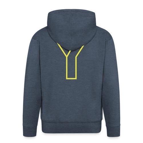 ChangeMy.Company Y Yellow - Männer Premium Kapuzenjacke