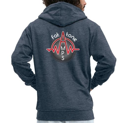 Fat Tone Amps logo - Men's Premium Hooded Jacket