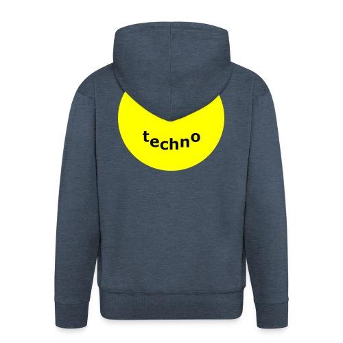 camiseta paz amor techno - Chaqueta con capucha premium hombre