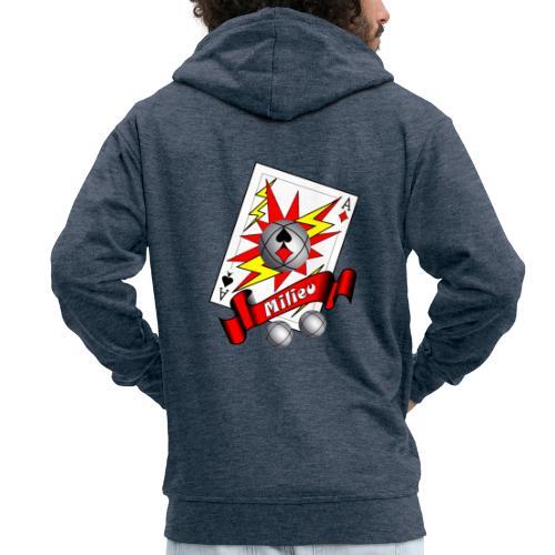 t shirt petanque milieu as des pointeurs as du tir - Veste à capuche Premium Homme