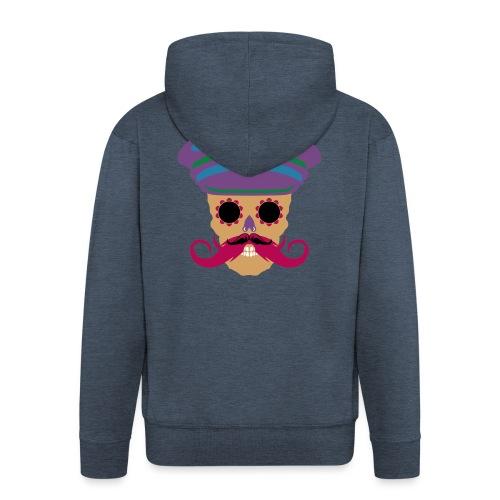 tete de mort fantaisie crane dessin kepi moustache - Veste à capuche Premium Homme