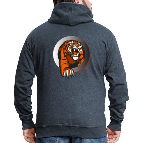 tiikeri - Miesten premium vetoketjullinen huppari