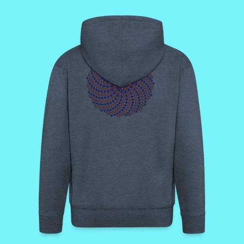 Fibonacci network one - Men's Premium Hooded Jacket