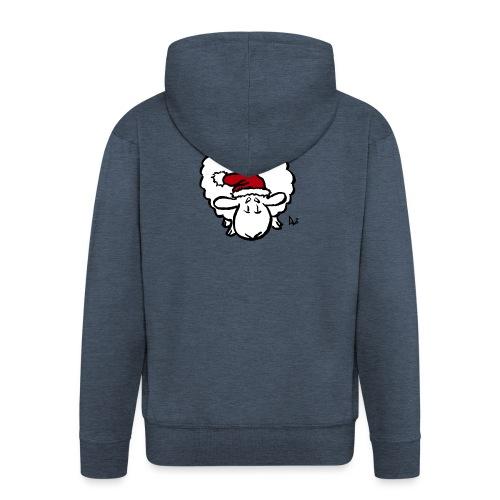 Weihnachtsschaf (rot) - Männer Premium Kapuzenjacke