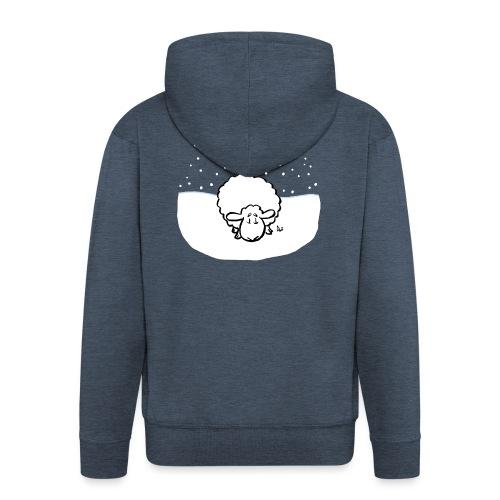 Schneebedeckte Schafe - Männer Premium Kapuzenjacke