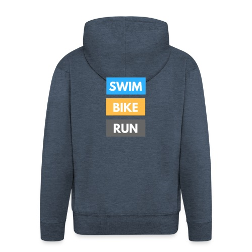 Triathlon Apparel: Swim Bike Run - Men's Premium Hooded Jacket