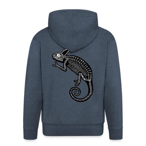 Chameleon Skeleton - Men's Premium Hooded Jacket