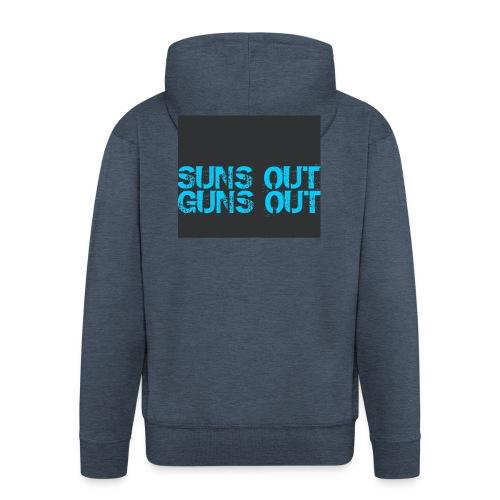 Felpa suns out guns out - Felpa con zip Premium da uomo