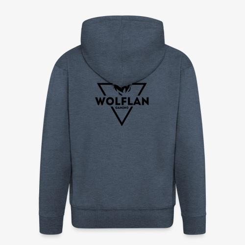 WolfLAN Gaming Logo Black - Men's Premium Hooded Jacket