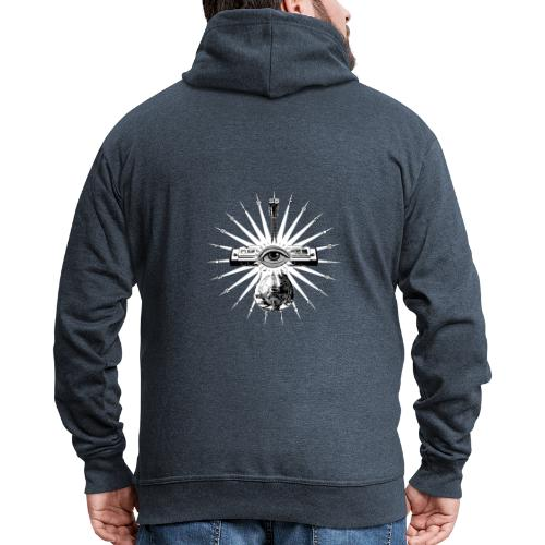 Blues Is The Truth - white star - Men's Premium Hooded Jacket