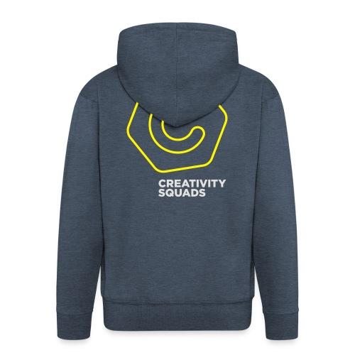 CreativitySquads 002 - Miesten premium vetoketjullinen huppari