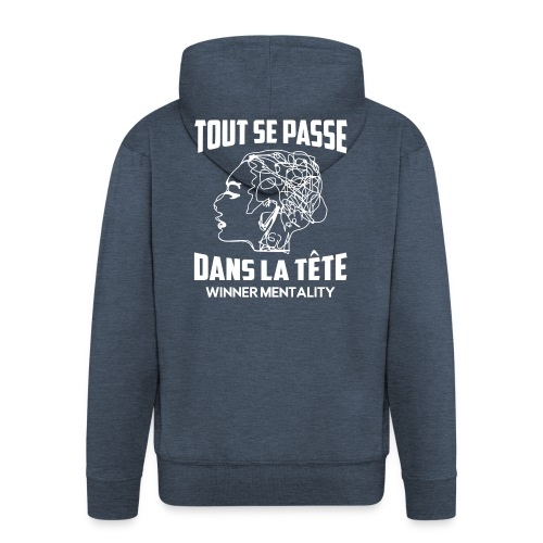 T-shirt motivation - Veste à capuche Premium Homme